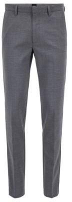 BOSS Hugo Slim-fit chinos in mercerized stretch fabric 30R Grey