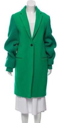 Mira Mikati Virgin Wool Embroidered Coat