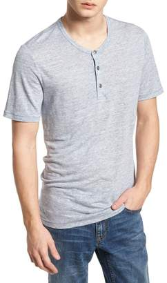 Treasure & Bond Short Sleeve Linen Henley