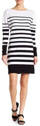 Scotch & Soda Breton Striped Long Sleeve Dress
