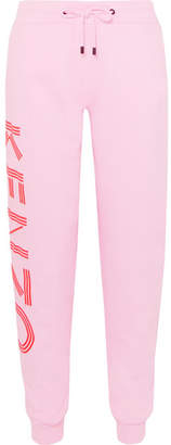 Kenzo Printed Cotton-jersey Track Pants - Pink