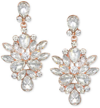 Badgley Mischka Rose Gold-Tone Crystal Chandelier Earrings