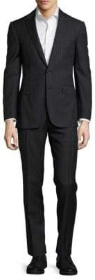 Ralph Lauren Striped Notch-Lapel Wool Suit