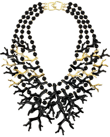 Kenneth Jay Lane Coral-inspired necklace