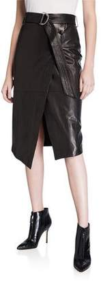 Rebecca Minkoff Julianna Leather Skirt