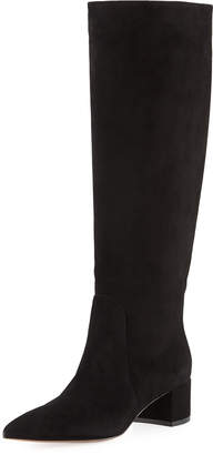 Gianvito Rossi Western Slouch Suede 45mm Boot