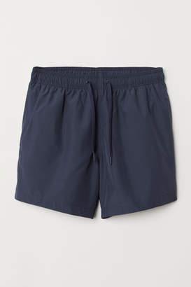H&M Swim Shorts with Side Stripes - Blue