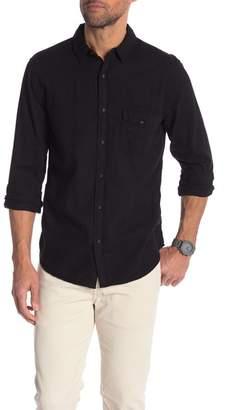 Save Khaki Melange Flannel Regular Fit Work Shirt