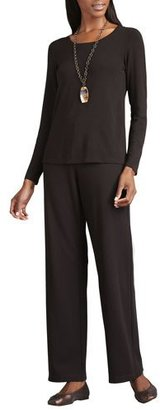 Eileen Fisher Straight-Leg Ponte Pants $208 thestylecure.com