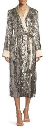 Le Superbe Sunset Boulevard Sequin Open-Front Robe Dress