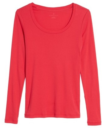 Women's Caslon 'Melody' Long Sleeve Scoop Neck Tee $25 thestylecure.com