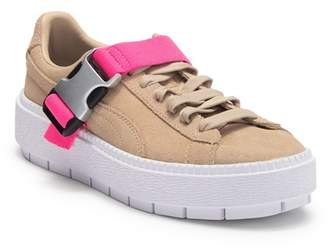 Puma Platform Trace Suede Buckle Sneaker