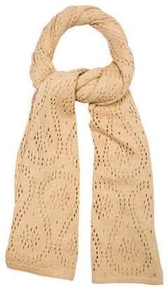 St. John Metallic Knit Scarf
