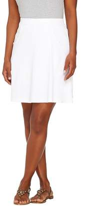 Liz Claiborne New York Pull-On Interlock Knit Skort