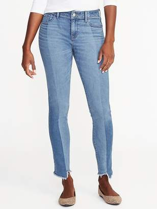 Old Navy Mid-Rise Rockstar Raw-Edge Jeans for Women