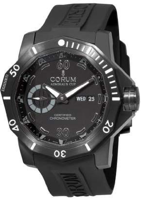 Corum Men's 'Admirals Cup Deep Hull 48' Swiss Automatic Titanium and Rubber Sport Watch