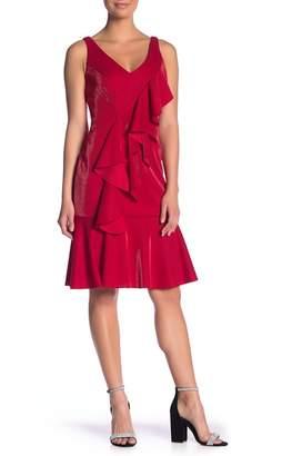 Jay Godfrey JAY X JAYGODFREY Cranston Shimmer Crepe Midi Dress