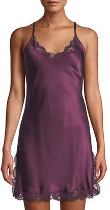 Christine Lingerie Bijou Button-Back Silk Chemise