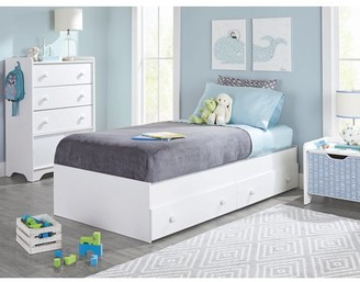 Better Homes & Gardens Cartwheel Twin Mate's Bed, White Finish
