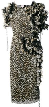 Antonio Marras ruffled leopard print dress