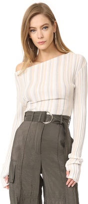 Jacquemus Ribbed Long Sleeve Sweater $469 thestylecure.com