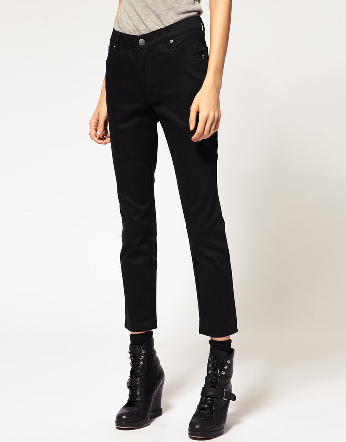 Cheap Monday Black Ankle Skinny Jean