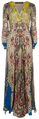 Etro Free Spirit Print Silk Gown