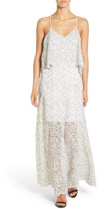 Willow & Clay Lace Applique Maxi Dress