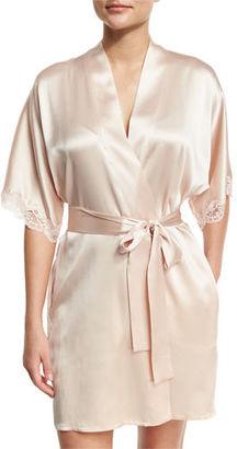 Christine Designs Bijoux Short Silk Robe $320 thestylecure.com