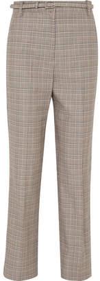 Rag & Bone Oman Checked Wool And Cotton-blend Straight-leg Pants - Gray