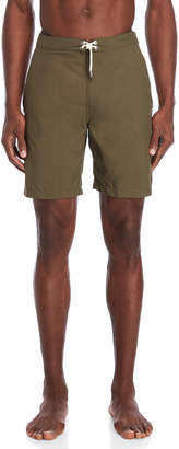 Solid & Striped Olive Solid Board Shorts
