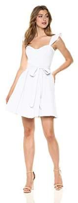 Milly Women's Seersucker Classico Corset Ruffle Dress Mini