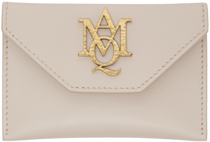 Alexander McQueenAlexander McQueen Pink Insignia Envelope Card Holder