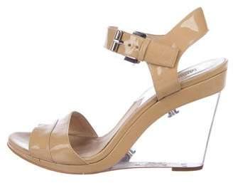 MICHAEL Michael Kors Patent Leather Wedge Sandals
