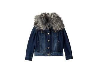 Splendid Littles Denim Jacket with Faux Fur Collar (Little Kids)