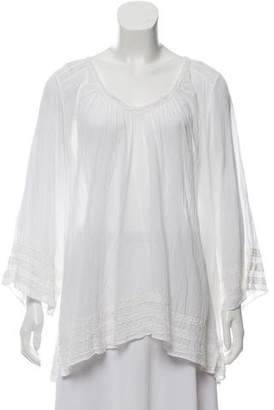 Calypso Crochet-Accented High-Low Tunic w/ Tags