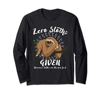 Spirit Animal Sloth Funny Sloths are The New Fox 592 Long Sleeve T-Shirt