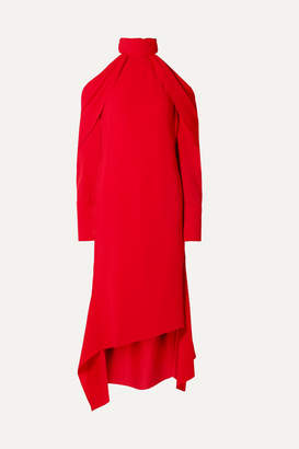 Monse Cold-shoulder Draped Crepe Midi Dress - Red
