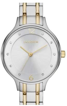 Skagen 'Anita' Crystal Index Bracelet Watch, 30mm