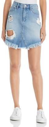 Mavi Jeans Sonia Destructed Denim Skirt in Light Ripped Vintage