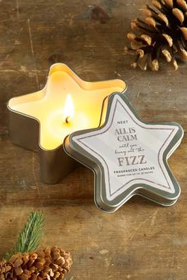 Next Fizz Star Shaped Tin Candle