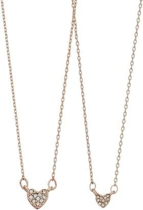 Lauren Conrad Simulated Stone Heart Pendant Necklace Set