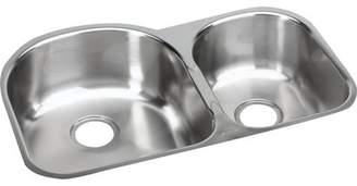 Elkay 31.25 x 20 Double Basin Undermount Kitchen Sink