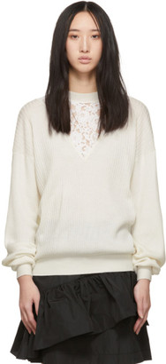 See by Chloe Off-White Lace Insert Sweater