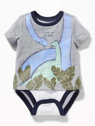 Old Navy 2-in-1 Dino-Graphic Bodysuit for Baby