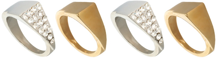 River Island Four Section Triangle Stacking Ring Pack