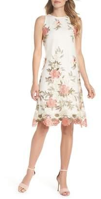 Julia Jordan Embroidered Shift Dress