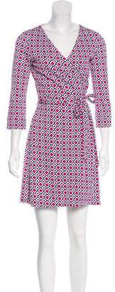 Diane von Furstenberg Printed Wrap Dress