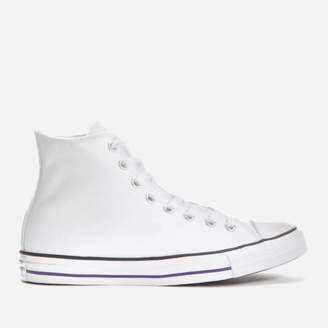 f9f5e63f36c66f Converse Men s Chuck Taylor All Star Hi-Top Trainers - White Court Purple