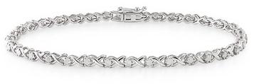 Ice.com 1 Carat Diamond 10K White Gold Bracelet